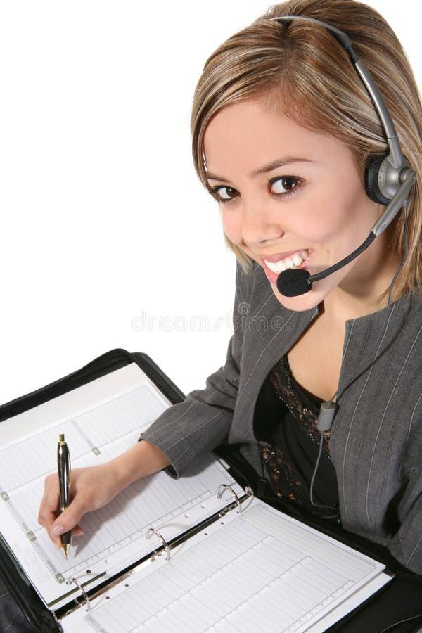 Pretty Customer Service Woman royalty free stock image