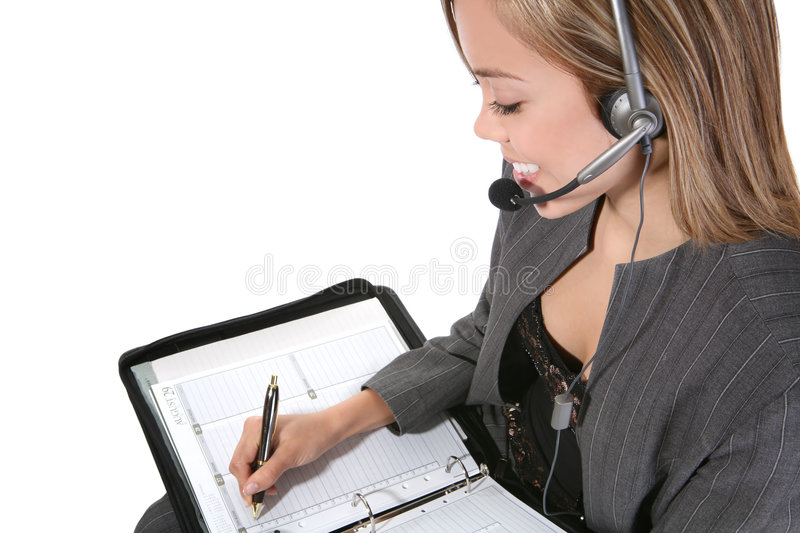 Pretty Customer Service Woman stock images
