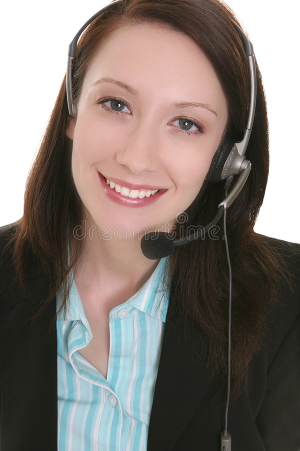 Pretty Customer Service Woman royalty free stock photos