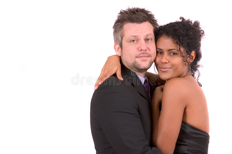 Pretty diverse couple royalty free stock image