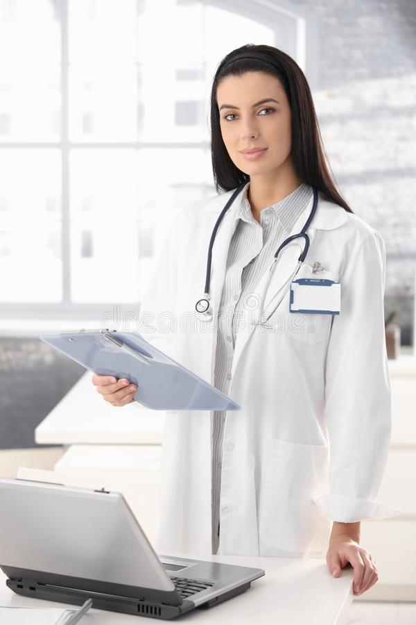 Pretty Doctor In Office Royalty Free Stock Photo