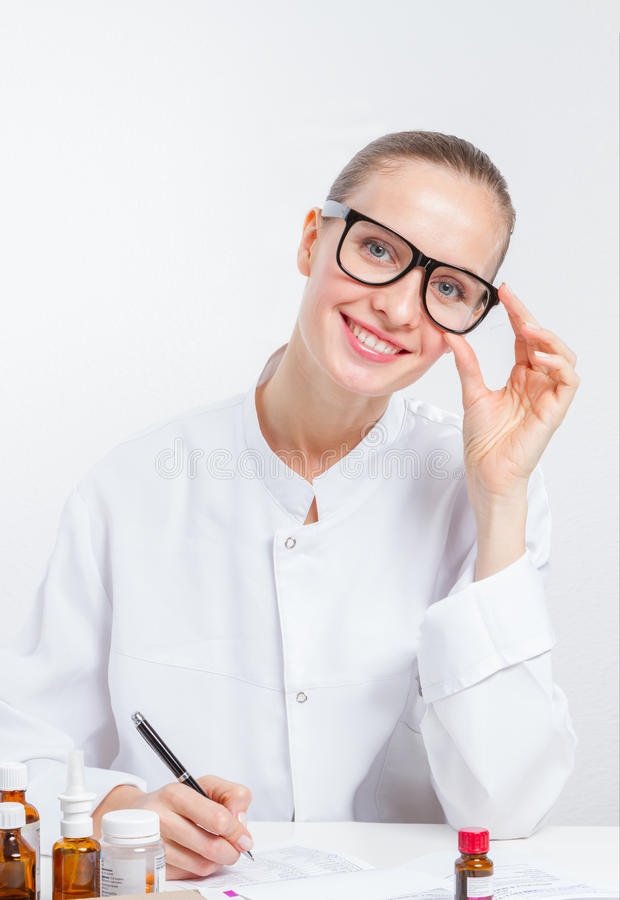 The pretty doctor stock photography