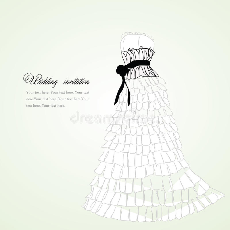 Download Pretty dress illustration stock vector. Illustration of dating - 14174152