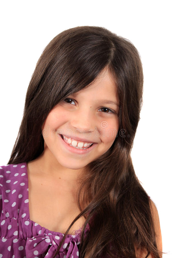 Pretty eight year old girl stock image