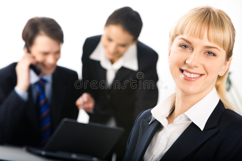 Pretty employee royalty free stock photo