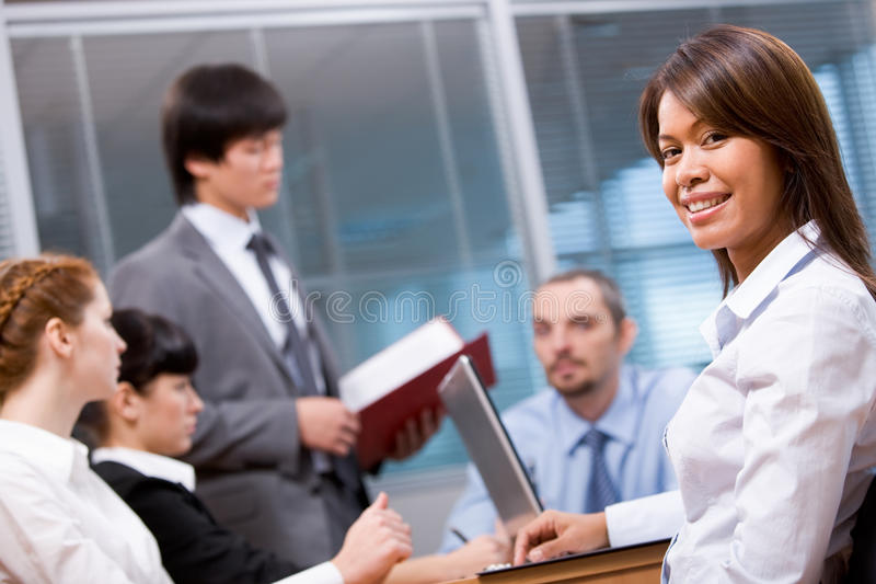 Download Pretty employer stock image. Image of corporate, employer - 11847689