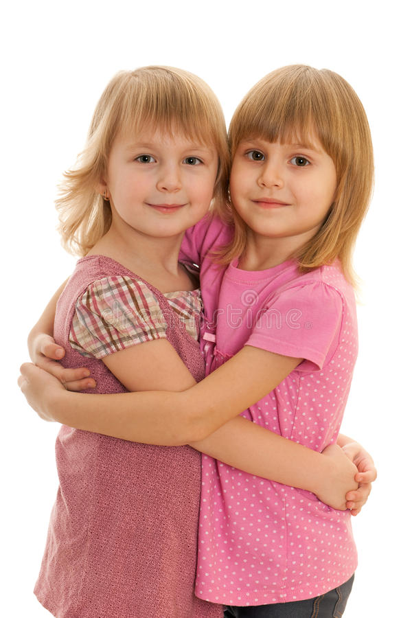 Pretty Fashionable Little Girls Stock Images
