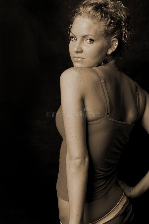 Pretty female back stock photo