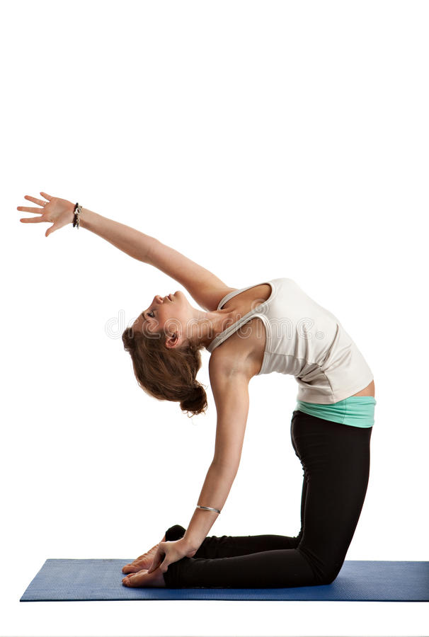 Pretty Female Teenager Practicing Yoga Royalty Free Stock Images