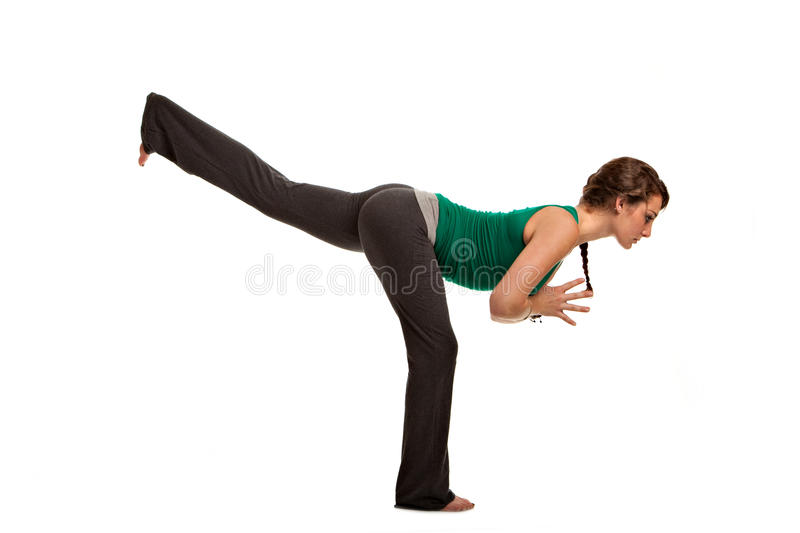 Download Pretty Female Teenager Practicing Yoga Stock Photo - Image: 21292798
