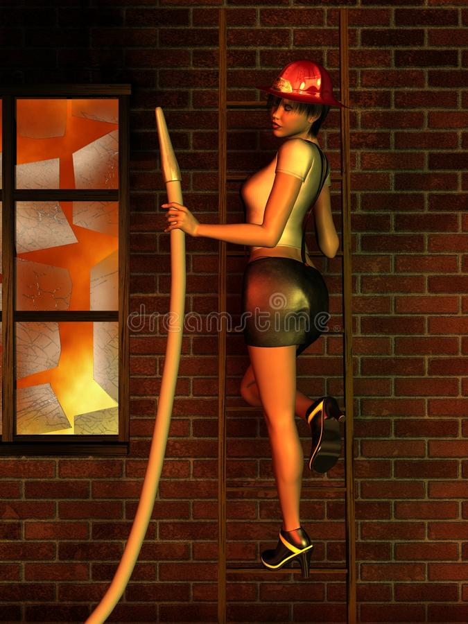 Download Pretty Firefighter stock illustration. Image of girl - 15127199