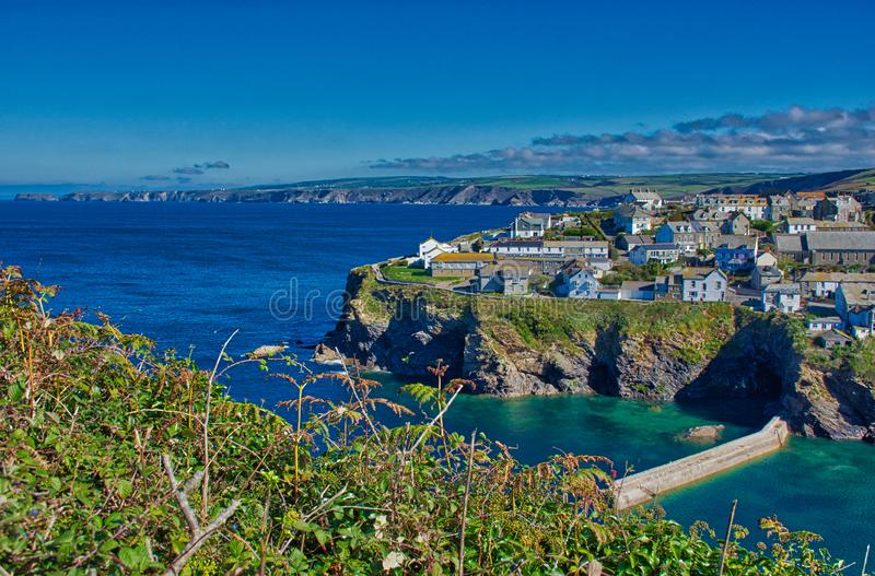 Port Isaac a small fishing village in Cornwall, well known because of the TV series Doc Martin stock images