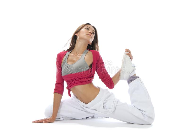 Download Pretty Flexible Dancer Woman Stretching Stock Photo - Image of aerobics, movemant: 20948866