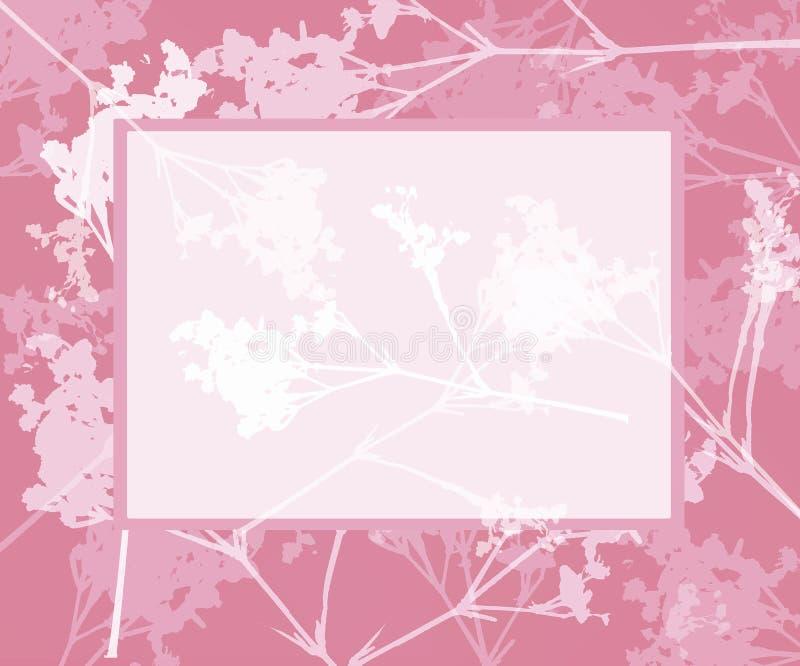 Download Pretty floral frame stock illustration. Image of pink, floral - 519939