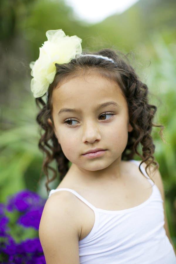 Pretty flower girl. stock photography