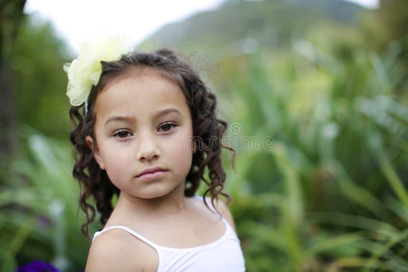 Pretty flower girl. royalty free stock photo