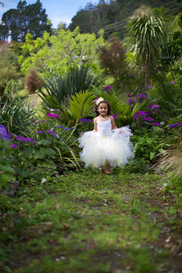 Pretty flower girl. royalty free stock photography