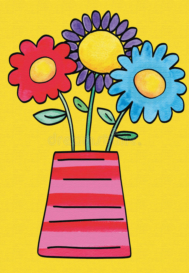 Download Pretty flowers stock illustration. Image of colourful - 16348736