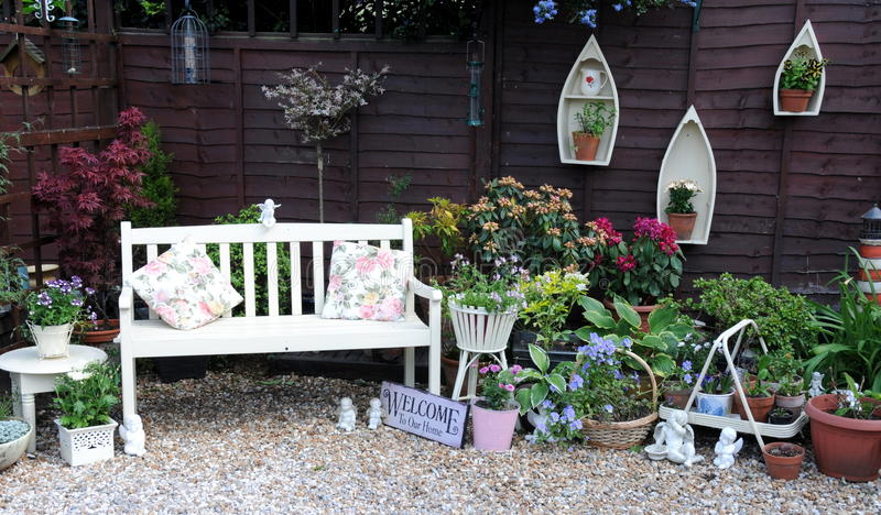 Pretty garden area. Shot of a pretty garden area in summer royalty free stock images