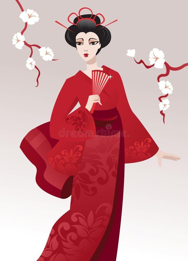 Pretty geisha royalty free stock photos