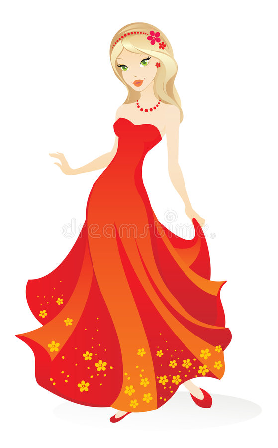 Download Pretty girl stock vector. Illustration of princess, teen - 9249709