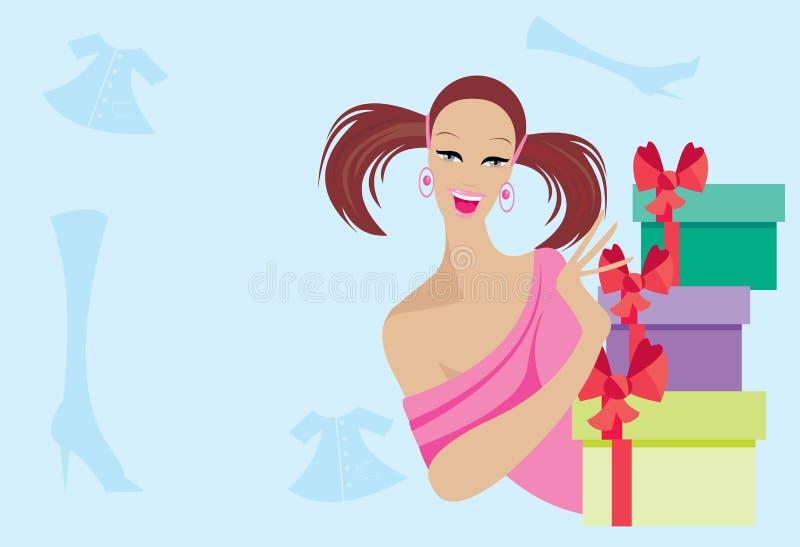 Download Pretty girl stock vector. Image of hopeful, girl, list - 15994153