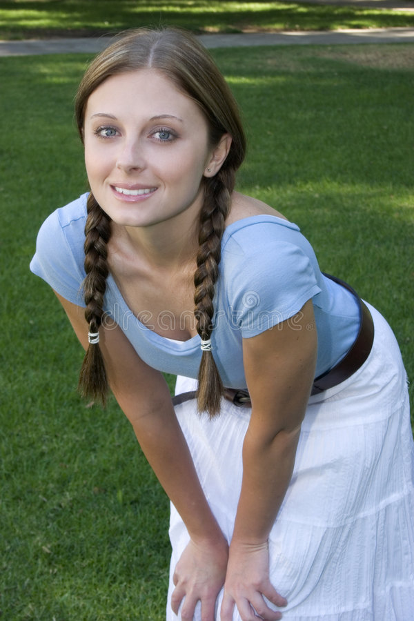 Download Pretty Girl stock image. Image of braided, teens, white - 282755