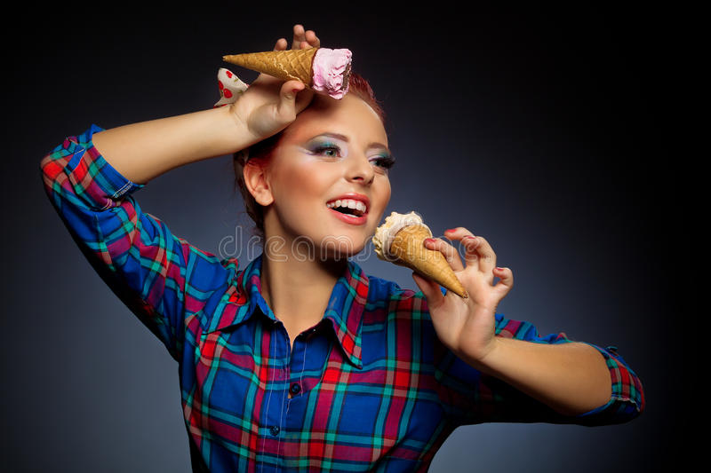 Download Pretty girl stock image. Image of icecream, glamour, emotion - 29569717