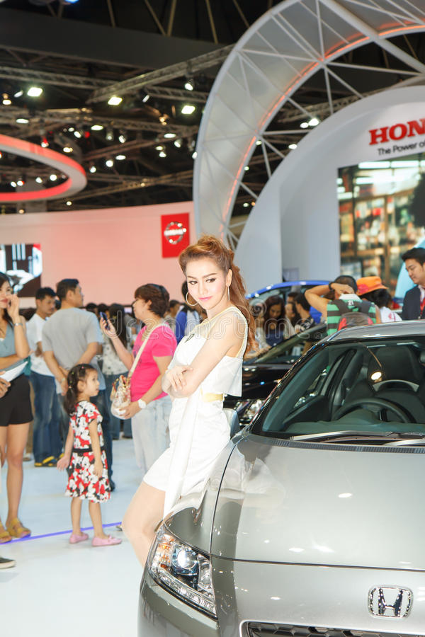 Exhibition Booth Bangkok : Pretty girl in bangkok motor show editorial