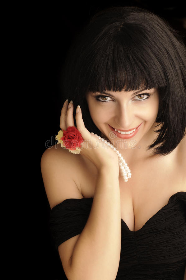 Pretty girl. Beautiful girl with pretty smile stock photography