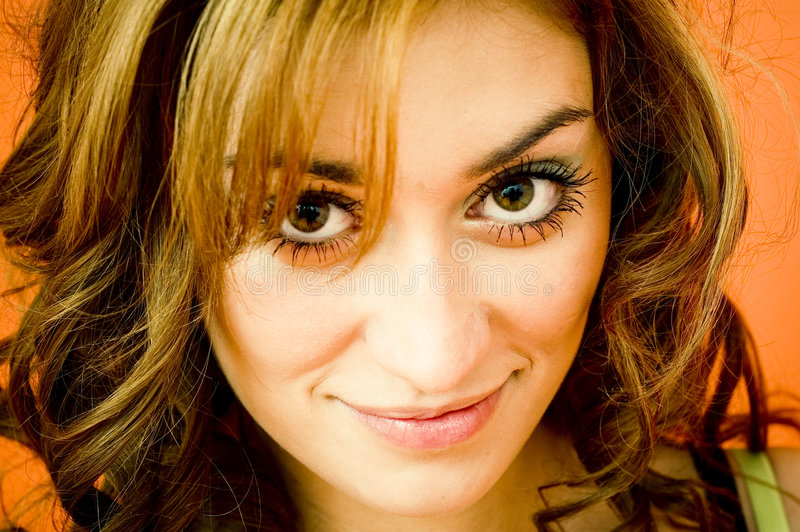 Download Pretty Girl With Big, Brown Eyes Stock Photo - Image: 1852562