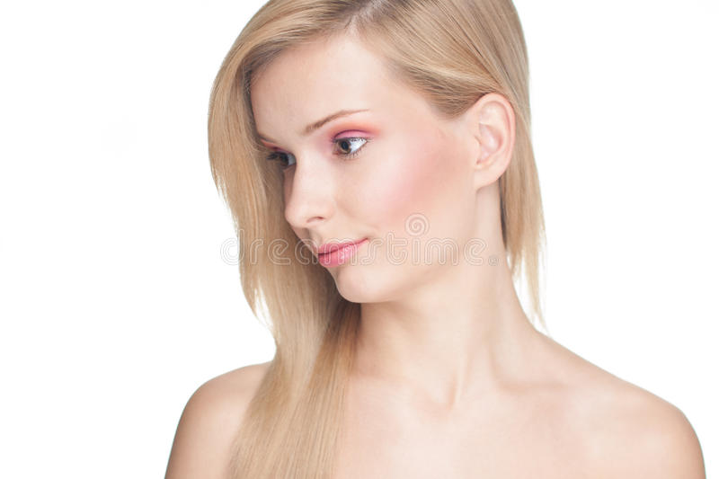 Pretty Girl With Blond Hair Royalty Free Stock Photography