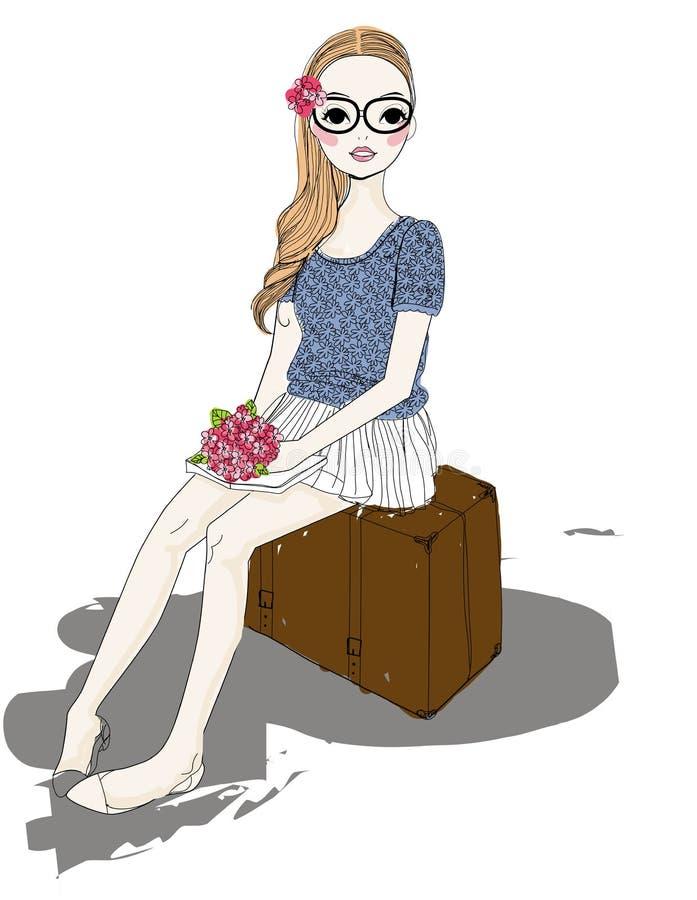 Pretty girl stock illustration