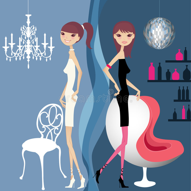 Download Pretty girl day and night stock vector. Illustration of lifestyle - 2693711