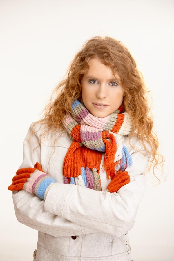 Pretty Girl Dressed Up For Winter Fun Stock Image