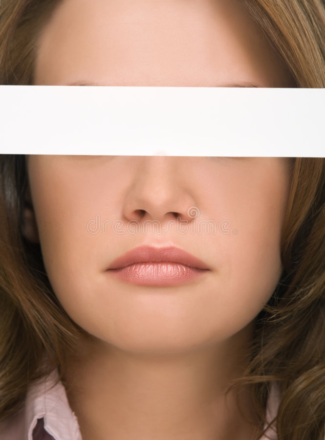 Download Pretty Girl Hiding Her Eyes Close-up Royalty Free Stock Image - Image: 8830116
