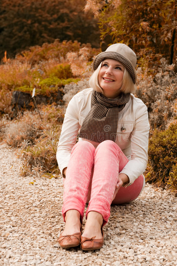 Free Pretty Girl In An Autumn Park Stock Image - 11324331