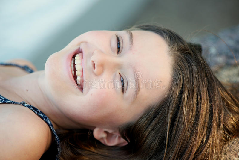 Pretty girl laughing royalty free stock image