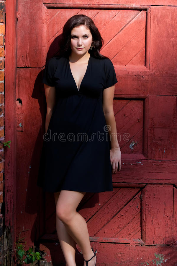 Pretty Girl Leaning royalty free stock photo