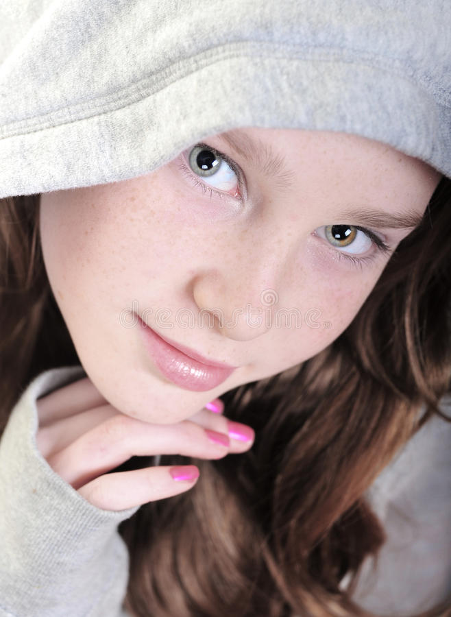 Pretty girl looking calm royalty free stock photography