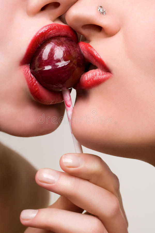 Download Pretty Girl With Pink Lollipop Stock Photo - Image: 10094266