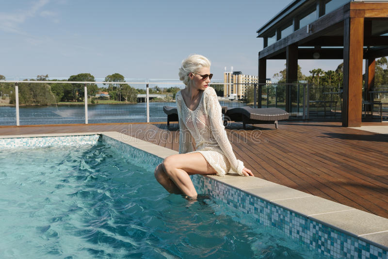 Download Pretty girl poolside stock photo. Image of fashionista - 29641294
