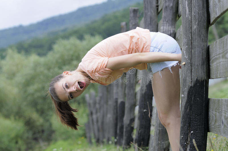 Pretty girl posing in nature