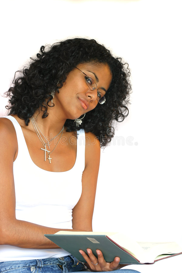 Download Pretty Girl Reading A Book Stock Photos - Image: 211583