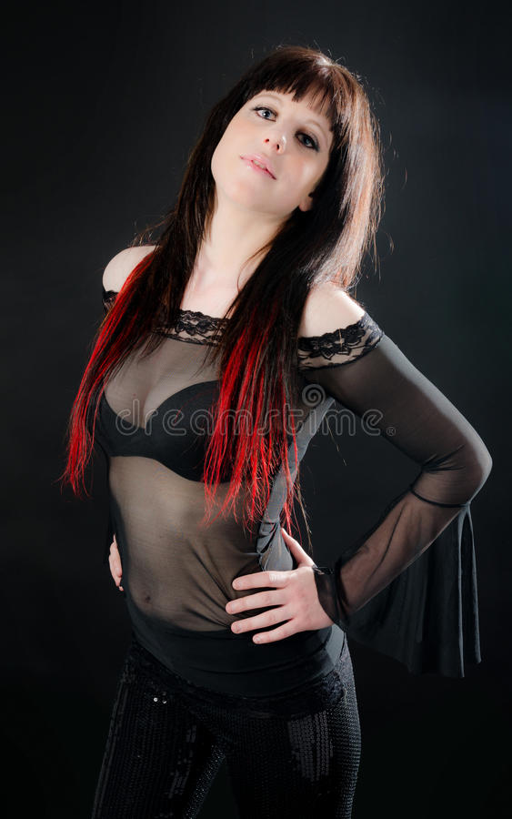 Pretty Girl With In See-through Shirt Royalty Free Stock Images
