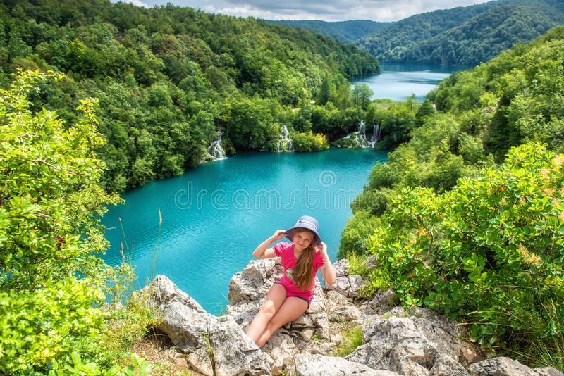 Plitvice Lakes National park, beautiful landscape with waterfalls, lakes and forest, Croatia royalty free stock images