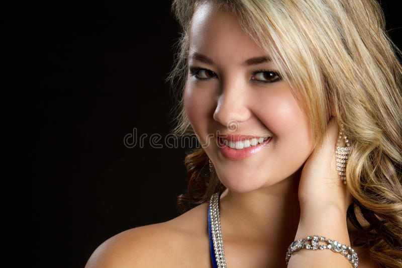 Pretty Girl Smiling royalty free stock image