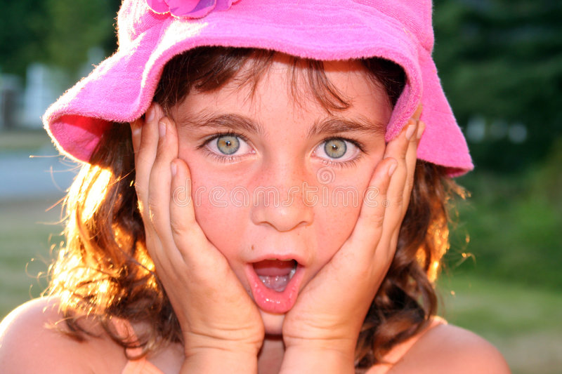 Pretty girl, surprised royalty free stock photos