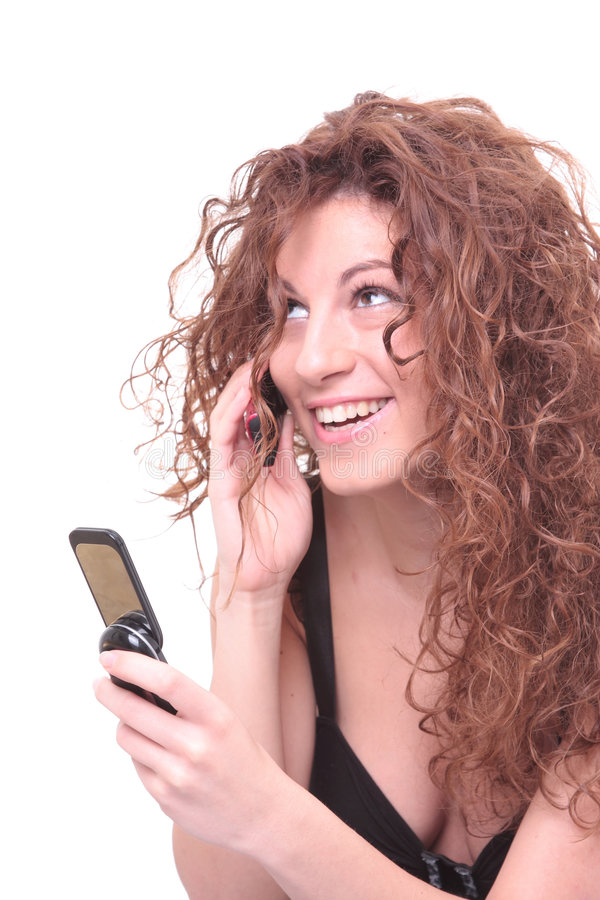 Pretty Girl Talking On The Phone Royalty Free Stock Photo