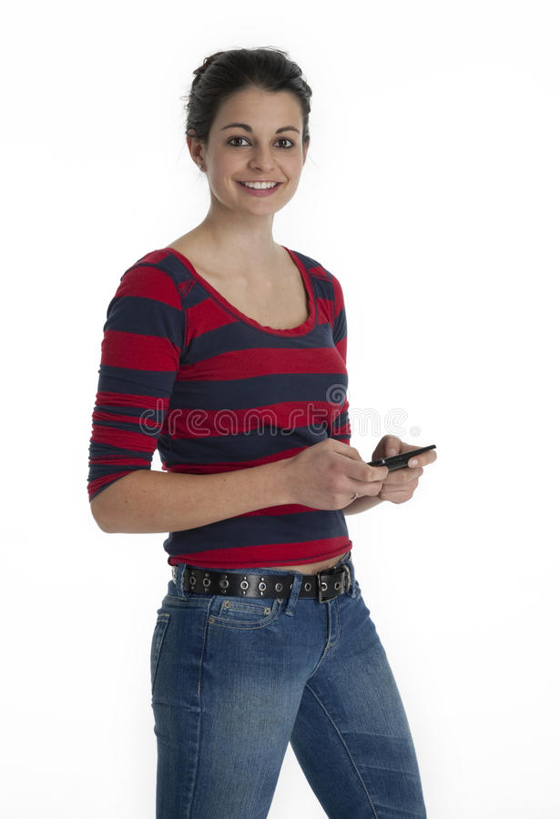 Download Pretty Girl Text Messaging stock photo. Image of expression - 22633274